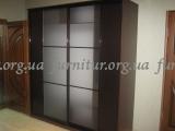 Шкаф-купе двухдверный стекло сатин